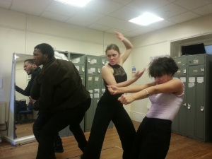Picture from the Bristol Old Vic Theatre School workshop on Ragnarok