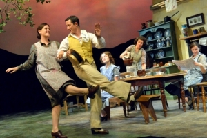 Fiona Putnam and cast in Theatre by the Lake 'Dancing in Lughnasa' 'There are some excellent central performances. Fiona Putnam's Agnes is a subtle study in repressed emotions'. (Whats on Stage)