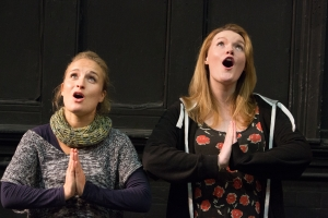 Oh the little Angles (photo Mike Kwasniak). Alice Mottram and Francesca Gosling