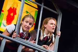 Francesca Gosling and Alice Mottram ...and a window (photo Mike Kwasniak)