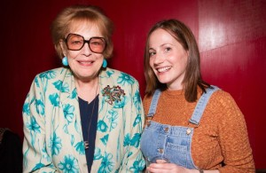 Antonia Fraser (Harold Pinter's widow) and Molly Davies at the award announcement
