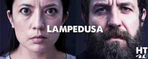 Louise-Mae Newberry and Ferdy Roberts in Lampedusa
