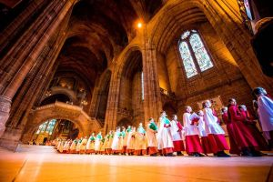 Pentecost 97 clergy in Anglican Cathedral